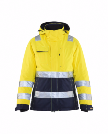 Blaklader 4872 Ladies High Vis Winter Jacket (Yellow/Navy Blue)